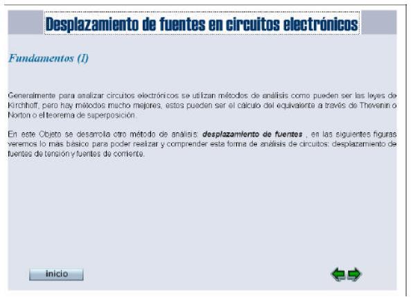 ... en circuitos electrónicos mediante el desplazamiento de fuentes de
